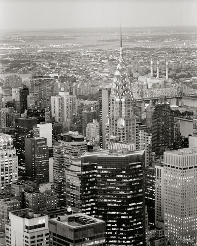 New York View over Chrysler Building