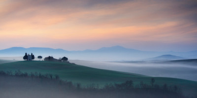 Capella di Vitaleta at Dawn - Tuscany I