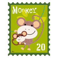 Animal Stamps - Monkey
