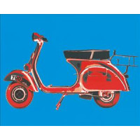 Vespa on Blue