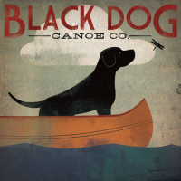 Black Dog Canoe (Detail, 1.0)