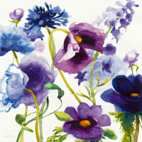 Blue and Purple Mixed Garden I
