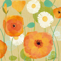 Daisies and Poppies I