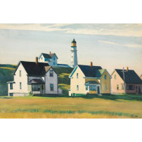 Lighthouse Village - Cape Elizabeth - Edward Hopper