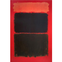 Mark Rothko - Light Red over Black