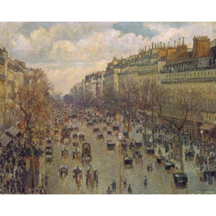 Der Boulevard Montmatre in Paris