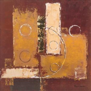 Circles on red-brown I